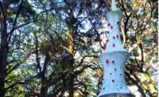 Vizinhos montam árvore de Natal na Praça Tamandaré